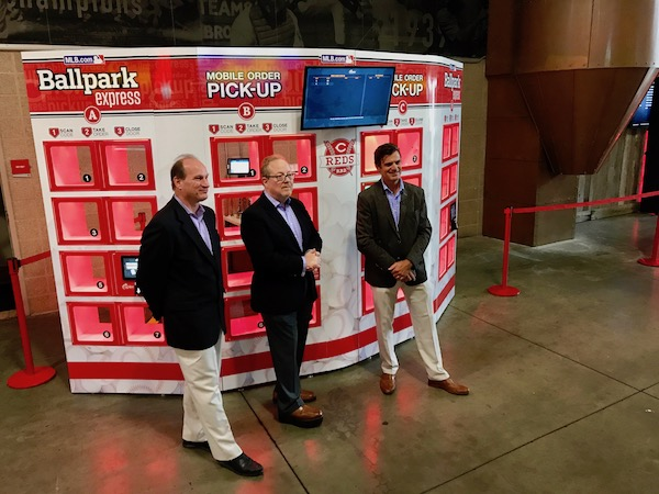 Reds and Delaware North Sportservice introduce first ever mobile order pick-up stations
