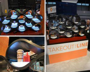 Smart shelf technology at tradeshow