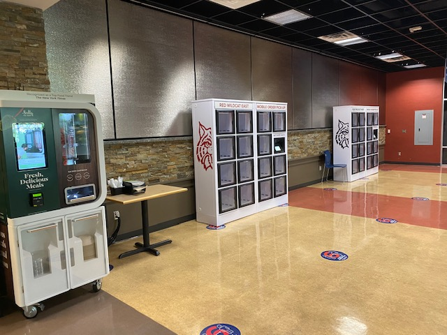 Food lockers at University of Arizona in corridor